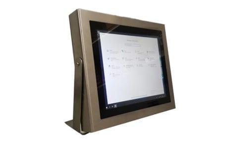 Full IP65 Touch Panel PC für die Fleischwirtschaft mit Tischfuß