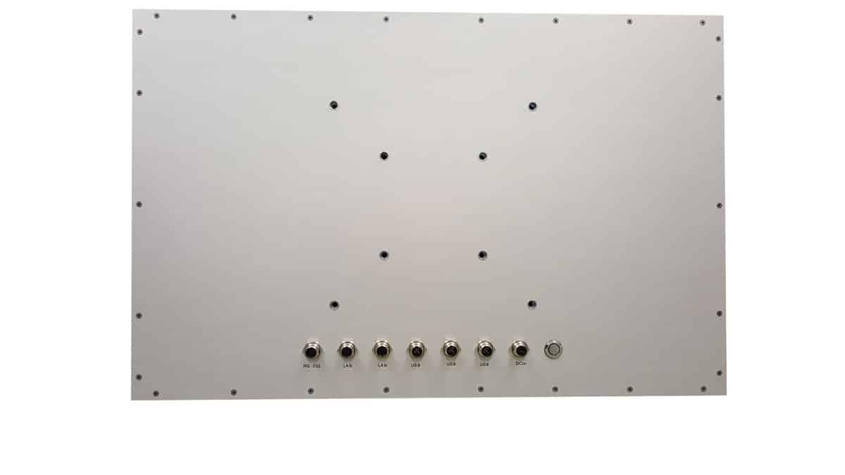 Full IP66 Aluminium Touch PC Rückseite